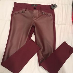 NWT Mossimo faux leather skinny pants